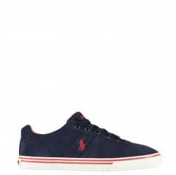 RALPH LAUREN POLO Sneakers mod. HANFORD SK-VLC NWT Navy Red
