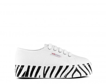 SUPERGA Sneakers mod. 2790 COTW PRINTEDFOXING S41157W White Zebra