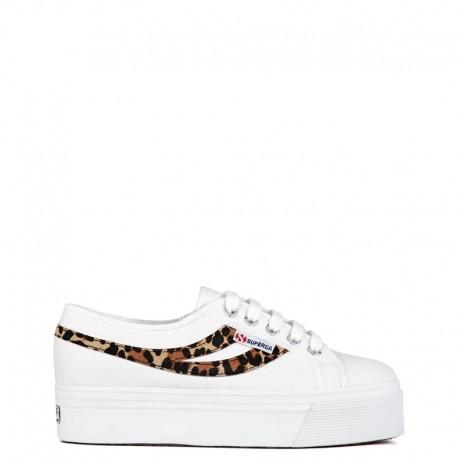 SUPERGA Sneakers mod. 2892 COTW PONYHAIR White Maculato